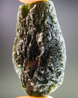drop shape large moldavite with certificate of authenticity (34.63grams) 2