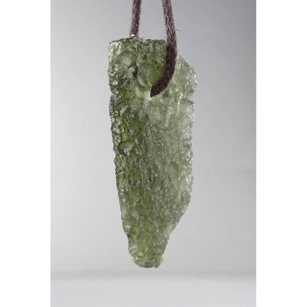 Elegant Jewelry Shape Drilled Moldavite Necklace (2.8grams) 2