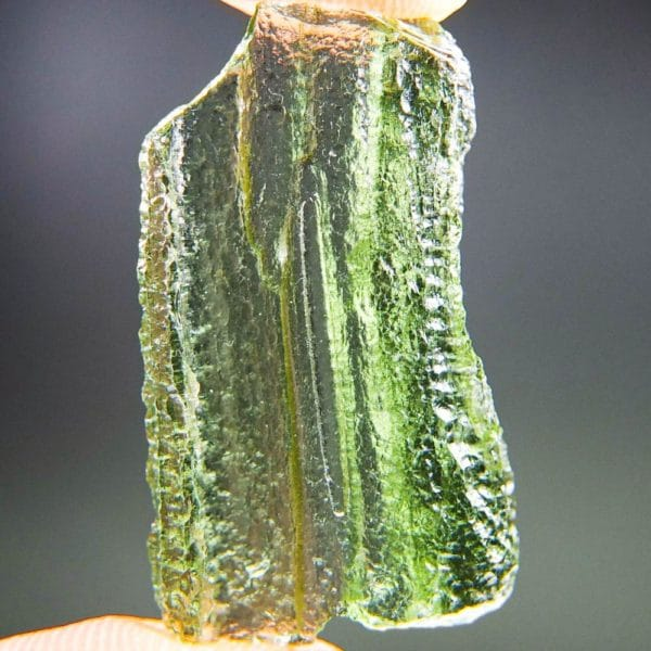 glossy rare shape moldavite with certificate of authenticity (2.67grams) 1