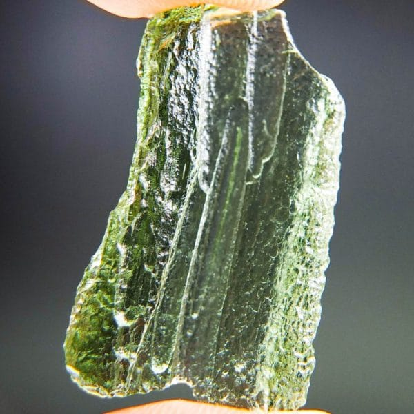 glossy rare shape moldavite with certificate of authenticity (2.67grams) 4