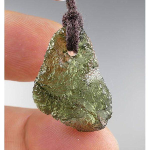 Jewelry Shape Drilled Moldavite Necklace (3.3grams) 1