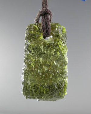 Jewelry Shape Drilled Moldavite Necklace (3.9grams) 1