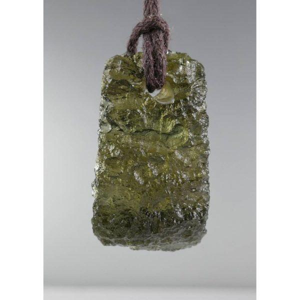 Jewelry Shape Drilled Moldavite Necklace (3.9grams) 2