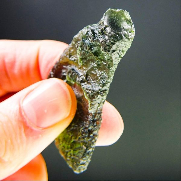 large angel chime moldavite with certificate of authenticity (16.55grams) 5