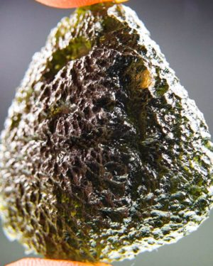 large brown green moldavite from chlum with certificate of authenticity (18.99grams) 1