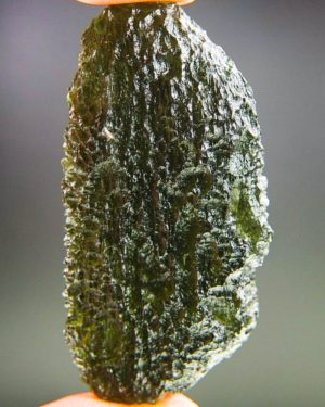 Large Dark Green Moldavite From Chlum With Certificate Of Authenticity (21.28grams) 1