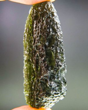 Large Dark Green Moldavite From Chlum With Certificate Of Authenticity (21.28grams) 2