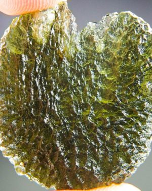 large natural piece moldavite from chlum with certificate of authenticity (10.09grams) 1