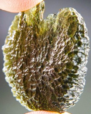 large natural piece moldavite from chlum with certificate of authenticity (10.09grams) 2
