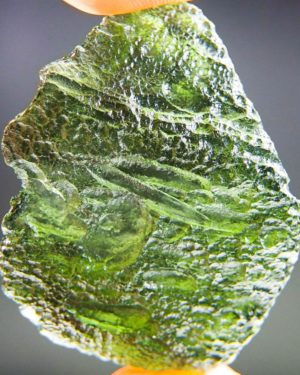 large vibrant green moldavite with certificate of authenticity (12.44 grams) 1