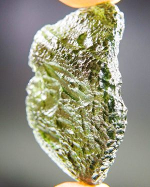 large vibrant green moldavite with certificate of authenticity (12.44 grams) 2