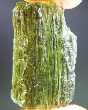 light green moldavite with open channel (3.39grams) 1