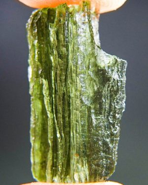 light green moldavite with open channel (3.39grams) 2