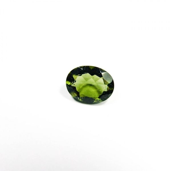 Oval Shape Faceted Moldavite With Certificate Of Authenticity (0.37grams) 4