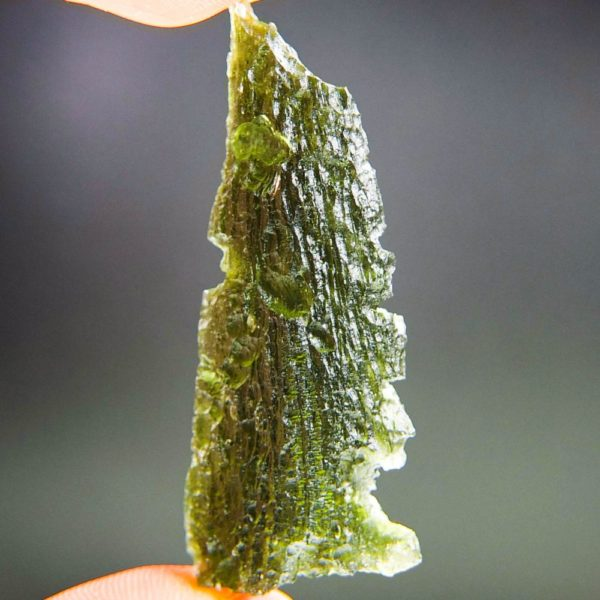 quality a+ angel chime drop shape moldavite with certificate of authenticity (9.82grams) 1