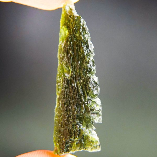 quality a+ angel chime drop shape moldavite with certificate of authenticity (9.82grams) 2