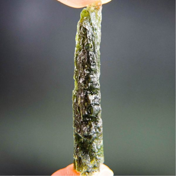 quality a+ angel chime drop shape moldavite with certificate of authenticity (9.82grams) 3