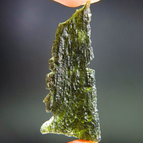 quality a+ angel chime drop shape moldavite with certificate of authenticity (9.82grams) 4