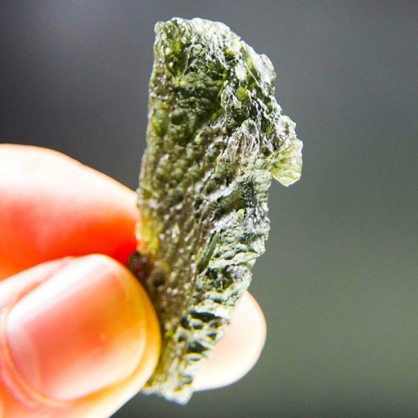 quality a+ angel chime drop shape moldavite with certificate of authenticity (9.82grams) 5