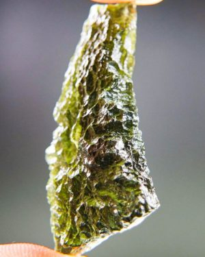 Quality A++ Beautiful Drop Shape Moldavite With Certificate Of Authenticity (8.8grams) 2