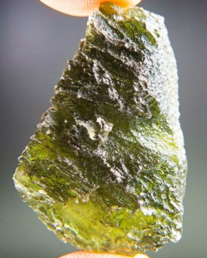 Quality A+ Brown Green Uncommon Shape Moldavite With Certificate Of Authenticity (9.22grams) 1