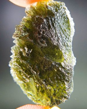 Quality A+ Brown Green Uncommon Shape Moldavite With Certificate Of Authenticity (9.22grams) 2