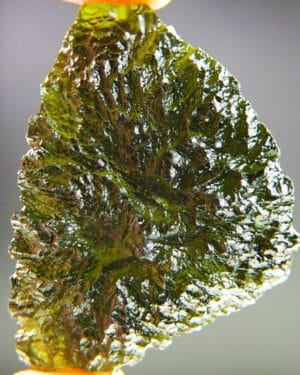 quality a+++ elipsoid shape moldavite from chlum with certificate of authenticity (18.84grams) 1