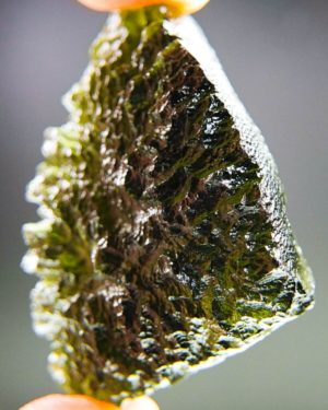 quality a+++ elipsoid shape moldavite from chlum with certificate of authenticity (18.84grams) 2