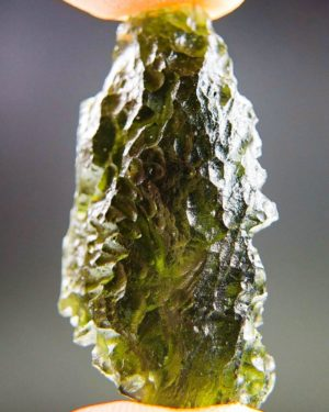 quality a+++ elipsoid shape moldavite from south bohemia with certificate of authenticity (9.3grams) 2