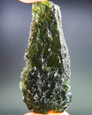 quality a+++ investment large drop shape moldavite with certificate of authenticity (22.19grams) 1