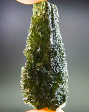 quality a+++ investment large drop shape moldavite with certificate of authenticity (22.19grams) 2