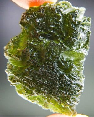 quality a+++ large bottle green moldavite with certificate of authenticity (17.51grams) 1