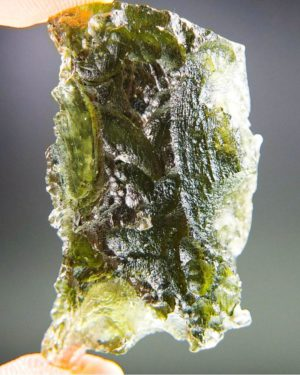 quality a++ large elegant moldavite with certificate of authenticity (11.99grams) 1