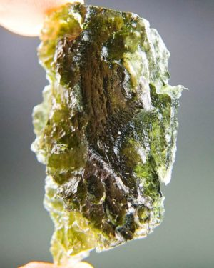 quality a++ large elegant moldavite with certificate of authenticity (11.99grams) 2