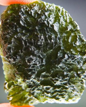 Quality A+++ Large Moldavite From Chlum With Certificate Of Authenticity (22.49grams) 1