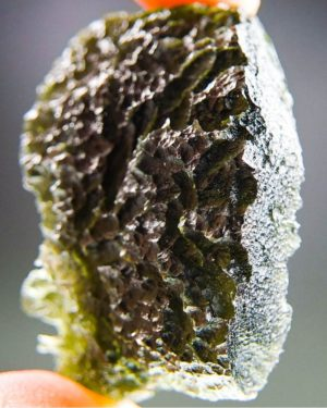 Quality A+++ Large Moldavite From Chlum With Certificate Of Authenticity (22.49grams) 2