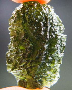 quality a+++ large and shiny moldavite with certificate of authenticity (10.2grams) 1