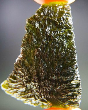 quality a+ shiny large olive green moldavite with certificate of authenticity (12.97grams) 1