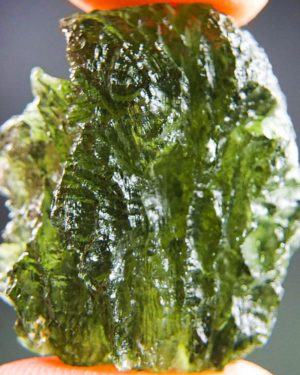 quality a+++ shiny open bubble moldavite with certificate of authenticity (8.88grams) 1