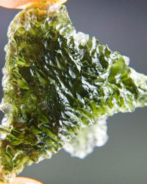 Quality A+++ Shiny Rare Shape Moldavite From South Bohemia With Certificate Of Authenticity (7.15grams) 1