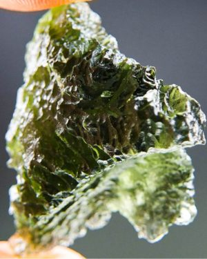 Quality A+++ Shiny Rare Shape Moldavite From South Bohemia With Certificate Of Authenticity (7.15grams) 2