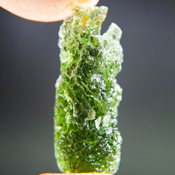 quality a+ shiny vibrant green moldavite with certificate of authenticity (5.23grams) 3