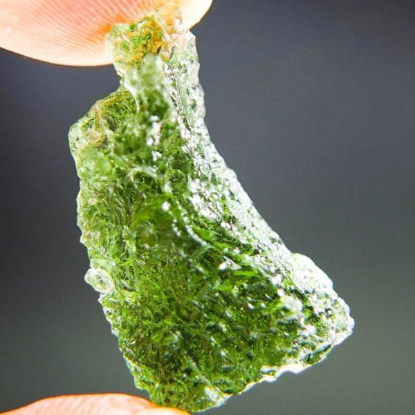 quality a+ shiny vibrant green moldavite with certificate of authenticity (5.23grams) 4