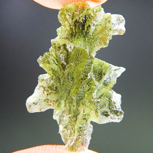 Quality A+++++ Yellow Green Moldavite From Besednice With Certificate Of Authenticity (2.21grams) 1