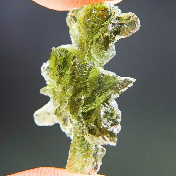 Quality A+++++ Yellow Green Moldavite From Besednice With Certificate Of Authenticity (2.21grams) 2