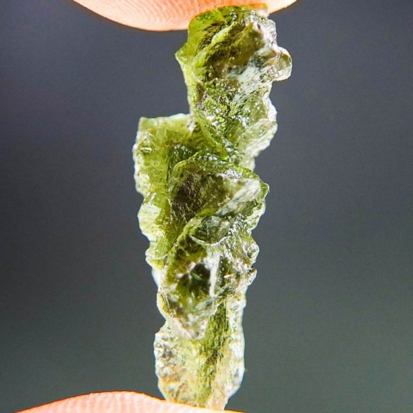 Quality A+++++ Yellow Green Moldavite From Besednice With Certificate Of Authenticity (2.21grams) 3