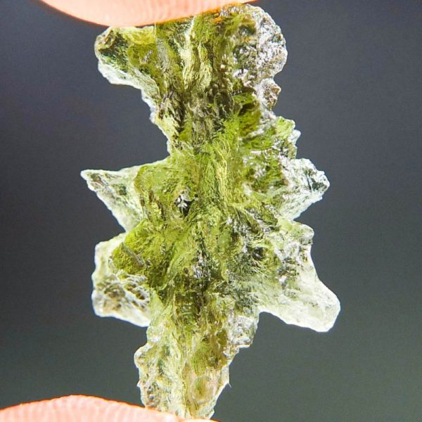 Quality A+++++ Yellow Green Moldavite From Besednice With Certificate Of Authenticity (2.21grams) 4