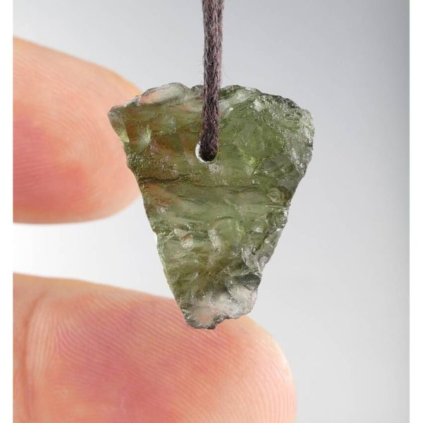 Rare Genuine Drilled Moldavite Necklace (2.8grams) 3