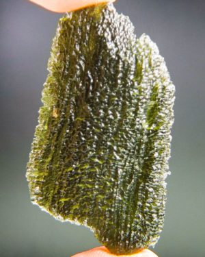 shiny large big angel chime moldavite with certificate of authenticity (12.36grams) 1