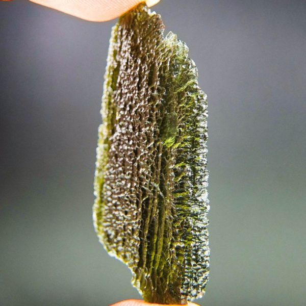 shiny large big angel chime moldavite with certificate of authenticity (12.36grams) 2